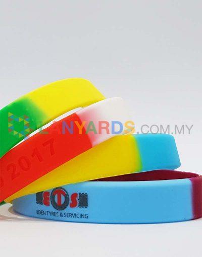Segmented Silicone Wristbands